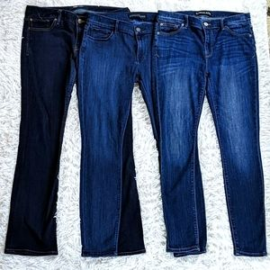 3 Express Bootcut Jeans Leggings Mid Rise 12R